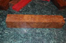 gorgeous Nargusta eye burl lumber turning cue blank knife ,1.8 x 1.8 x 11 inches