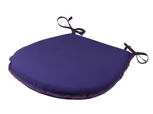 Simply Purple D-Shaped Garden/Patio/Kitchen/Dining Tie-On seat pads *3 Sizes*