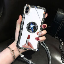 Luxury Diamond Mirror Lanyard Bracket Hot New Women Case Cover For Various Phone