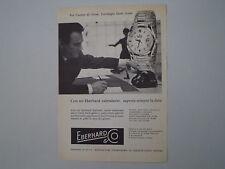 advertising Pubblicità 1959 OROLOGIO EBERHARD SCAFODAT
