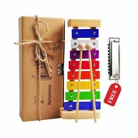 Kids Xylophone, Wooden Musical Toy for Kids Ages 3 and up. Glockenspiel Percu...