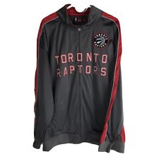 NBA Toronto Raptors Big and Tall Reflective Track Jacket Mens 3X Charcoal Gray