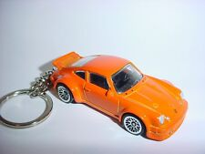 NEW 3D PORSCHE 934 Turbo RSR CUSTOM KEYCHAIN keyring key racing orange finish