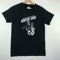 MLB Chicago White Sox Mens Size Small Graphic T-Shirt Black Short Sleeves