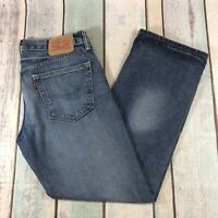 Men's Levis 559 Relaxed Straight Leg Jeans W32 L30 Blue Size 32S Distressed