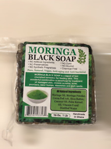 Moringa Black Soap Net Wt: 1 lb.