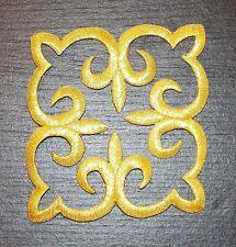 Parche Bordado Metálico Oro encaje y apliques Motif Disfraz De Baile Irlandés