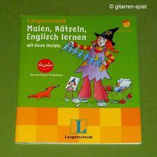 NEU Lies+Spiel Malen Rätseln Englisch lernen mit Hexe Huckla Langenscheidt ©2003
