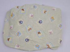 Winnie Pooh Bear Fitted Crib Sheet Green Piglet Tigger Eeyore Nursery Kidsline