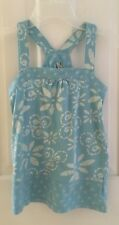 Old Navy Light Blue Floral Tank Top Sleeveless Girls Size Large - 100% Cotton