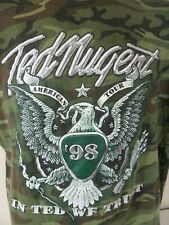Ted Nugent 1998 American Tour Camouflage Concert Tour Shirt In Ted We Trust USA