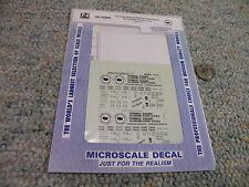 Microscale decals N 60-4289 Terminal Railway Alabama  Docks 50' o/s box   KKK