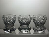 Lead Crystal Cut Glass Vases Set of 3