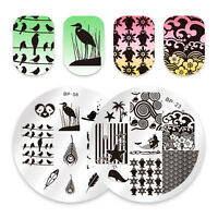 Born Pretty Nail Art Stamping Plates Birds Feather Ocean Stamp Template Decor