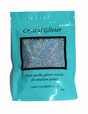 Crystal Glitter paint additive for emulsion walls, Holographic Diamond Silver!