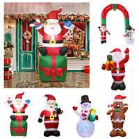 Inflatable Gingerbread Man Christmas Santa Claus Snowman Xmas Yard Outdoor Decor