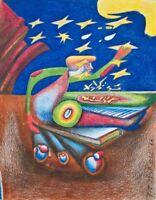 Pit Morell - Der Sternenpflücker - Zeichnung - 1988