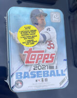 New/Sealed 2021 Topps Series 1 Baseball Collector Tin Cody Bellinger Tin 75 Card