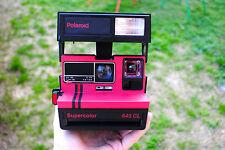 Appareil photo instantané : POLAROID SUPERCOLOR 645 CL Rouge + boite FONCTIONNE