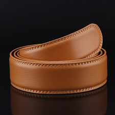 5 Colors Men's Genuine Leather Automatic Strap Belt Without Buckle Waist Strap