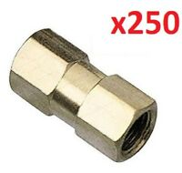 250 x Brake Pipe Nuts 2 way Female Connector Joiner Joint 10mm X 1mm 3/16 Pipe