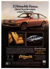 1982 OLDSMOBILE Firenza SX Hatchback Vintage Original SMALL Print AD Red Canada