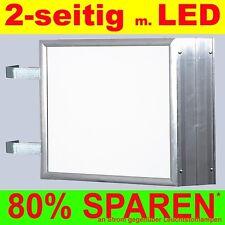 LED Enseigne au néon Recto-verso allumé 594x841mm DIN-A 1 Flèche Boîte nez Bo