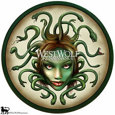Greek Medusa or Gorgon Shield - sca/larp/spartan/troy/artwork/wooden armor - NEW
