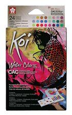 Sakura Koi Watercolour Paint Pocket Box Set of 24 Metallic & Fluorescent Colours