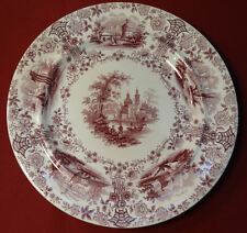 WR & Co Ridgway MARMORA Purple Transferware Staffordshire England Dinner Plate