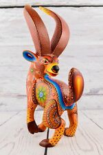 A1150 Bighorn Sheep Alebrije Oaxacan Wood Carving Painting Handcrafted Folk Art