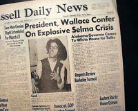 SELMA to MONTGOMERY AL Alabama Martin Lurther King Negroes MARCH 1965 Newspaper