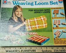 Adjustable Steel Weaving Loom Set Crafts by Whiting Instructions 1970s Vintage