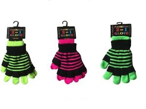 Magic FASHION GLOVES 2 IN 1 Gloves in 3 DIFFERENT COLOURS One Size