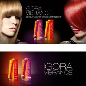 schwarzkopf igora vibrance hair color 60ml semi permanent Activator tone on ton