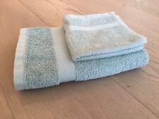 Set Hand & Face Towels Habitat Light Green Teal