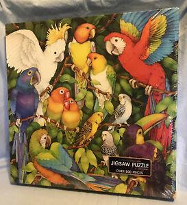 Jungle Birds Springbok 500Pc Jigsaw Puzzle Sealed PZL2101 Parrot Cockatoo Toucan