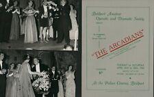More details for bridport amateur operatic society 1955  'the arcadians' + 2 photos j1.610