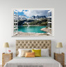 3D Blue Pool Hills Sky 1068 Open Windows WallPaper Murals Wall Print AJ Carly
