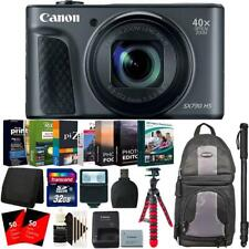 "Canon PowerShot SX730 Black HS Digital Camera + 62"" Monopod and Accessory Kit"