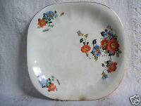 Antique 7 3/4' Square Plate Golden Glo Glow American Dinnerware Pattern Limoges