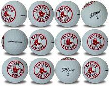 Boston Red Sox Titleist ProV1 Refinished MLB Golf Balls 12 pack