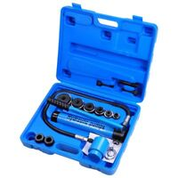 9 Ton Hydraulic Knockout Punch Driver Kit 6 Dies Hand Pump Hole Tool 11-gauge