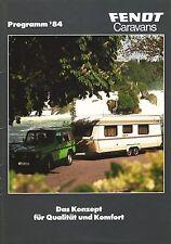 FENDT 1984 - WOHNWAGEN PROSPEKT - MIT PREISLISTE - CAMPING