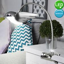 Luxus LED Schreib Tisch Leuchte Klemm Vogel Kristall Schlaf Zimmer Spot Lampe