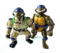 Pro Pilot & Storage Shell Don Vintage TMNT Ninja Turtles Figures Lot Donatello