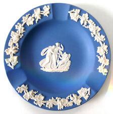 WEDGEWOOD BLUE JASPERWARE ROUND ASHTRAY, EXCELLENT CONDITION