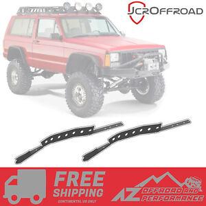 JCR Offroad Rear Frame Unibody Stiffeners - Bare Metal - 84-01 Jeep Cherokee XJ