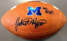 JABRILL PEPPERS SIGNED MICHIGAN WOLVERINES OFFICIAL GAME FOOTBALL PSA ROOKIE COA