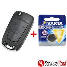 Opel plegable clave 2 teclas carcasa auto astra Corsa Vectra Zafira + batería
